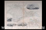 Карта Крыма,  1850 г. Дж. Рапкин